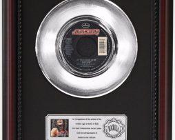 BON-JOVI-LAY-YOUR-HANDS-ON-ME-PLATINUM-RECORD-FRAMED-CHERRYWOOD-DISPLAY-K1-172204260558