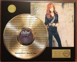 BONNIE-RAITT-GOLD-LP-RECORD-LASER-ETCHED-W-LYRICS-PLAYS-SONG-NICK-OF-TIME-171012618128