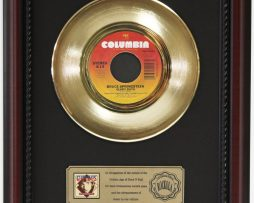 BRUCE-SPRINGSTEEN-GLORY-DAYS-GOLD-RECORD-CUSTOM-FRAMED-CHERRYWOOD-DISPLAY-K1-172164191438