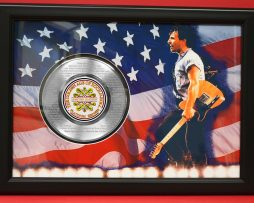 BRUCE-SPRINGSTEEN-LARGE-FRAMED-PLATINUM-45-RECORD-DISPLAY-FREE-SHIPPING-170957181118