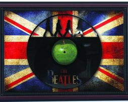 Beatles-Abbey-Road-Cherry-Framed-Laser-Cut-Black-Vinyl-Record-Flag-K1-172344622998