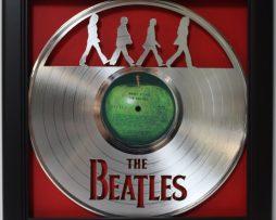 Beatles-Abbey-Road-Framed-Laser-Cut-Platinum-Vinyl-Record-in-Shadowbox-Wallart-182327985998