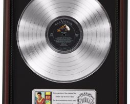 ELVIS-PRESLEY-BLUE-HAWAII-PLATINUM-LP-RECORD-FRAMED-CHERRYWOOD-DISPLAY-K1-172211696458