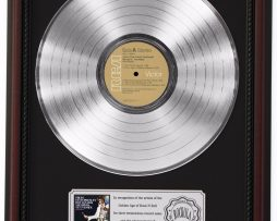 ELVIS-PRESLEY-BOULEVARD-PLATINUM-LP-RECORD-FRAMED-CHERRYWOOD-DISPLAY-K1-172211697208