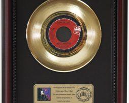 JANET-JACKSON-THINK-OF-YOU-GOLD-RECORD-CUSTOM-FRAMED-CHERRYWOOD-DISPLAY-K1-182128979818