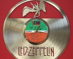 LED-ZEPPELIN-2-LASER-CUT-GOLD-PLATED-LP-RECORD-WALL-CLOCK-FREE-SHIPPING-181895325558