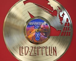 LED-ZEPPELIN-LASER-CUT-GOLD-PLATED-LP-RECORD-WALL-CLOCK-FREE-SHIPPING-171960615878