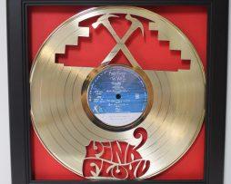Pink-Floyd-The-Wall-Framed-Laser-Cut-Gold-Plated-Vinyl-Record-Shadowbox-Wallart-182330550558