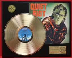 QUIET-RIOT-GOLD-LP-LTD-EDITION-RECORD-DISPLAY-AWARD-QUALITY-COLLECTIBLE-170920512288