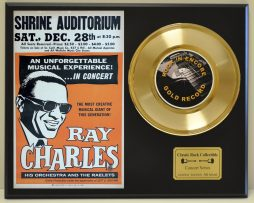 RAY-CHARLES-LTD-EDITION-CONCERT-POSTER-SERIES-GOLD-45-DISPLAY-SHIPS-FREE-181235776318