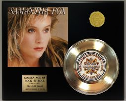 SAMANTHA-FOX-LIMITED-EDITION-GOLD-45-RECORD-SLEEVE-DISPLAY-FREE-SHIP-181435078078