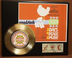 WOODSTOCK-POSTER-CONCERT-TICKET-SERIES-GOLD-RECORD-LIMITED-EDITION-DISPLAY-181428071598