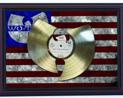 WU-TANG-Forever-LTD-Edition-Laser-Cut-Gold-Record-Flag-Framed-Display-K1-182265220678
