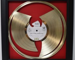 Wu-Tang-Framed-Laser-Cut-Gold-Plated-Vinyl-Record-Shadowbox-Wallart-172388542328