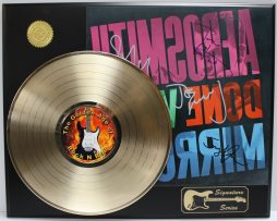 AEROSMITH-GOLD-LP-LTD-EDITION-REPRODUCTION-SIGNATURE-RECORD-DISPLAY-172047841069