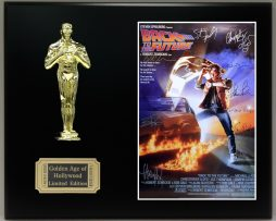 BACK-TO-THE-FUTURE-Reproduction-Cast-Signed-8x10-LTD-Edition-Oscar-Movie-Display-181826899519