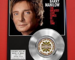 BARRY-MANILOW-PLATINUM-RECORD-LIMITED-EDITION-RARE-COLLECTIBLE-MUSIC-DISPLAY-170851816889