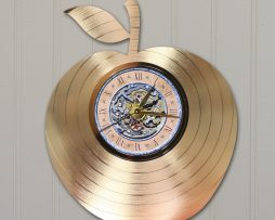BEST-TEACHER-APPLE-CUSTOM-LASER-CUT-GOLD-LP-RECORD-WALL-CLOCK-FREE-SHIPPING-181931550599