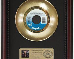 BILLY-IDOL-DONT-NEED-A-GUN-GOLD-RECORD-CUSTOM-FRAMED-CHERRYWOOD-DISPLAY-K1-172164180799