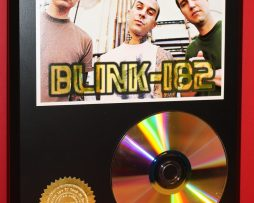 BLINK-182-PUNK-BAND-24kt-GOLD-CDDISC-COLLECTIBLE-RARE-AWARD-QUALITY-PLAQUE-170831868339