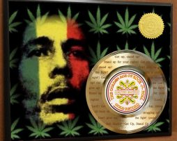 BOB-MARLEY-LASER-ETCHED-W-LYRICS-TO-GET-UP-STAND-UP-POSTER-ART-GOLD-RECORD-181466438439
