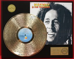 BOB-MARLEY-LTD-EDITION-GOLD-LP-RECORD-LASER-ETCHED-W-LYRICS-TO-THE-SONG-181000130179