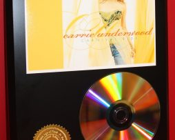 CARRIE-UNDERWOOD-24kt-GOLD-CD-DISC-COLLECTIBLE-RARE-AWARD-QUALITY-DISPLAY-GIFT-170822836979