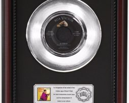 ELVIS-PRESLEY-ALL-SHOOK-UP-PLATINUM-RECORD-FRAMED-CHERRYWOOD-DISPLAY-K1-182128919349