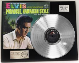 ELVIS-PRESLEY-PARADISE-HAWAIIAN-STYLE-PLATINUM-LP-LTD-EDITION-RECORD-DISPLAY-181319186649