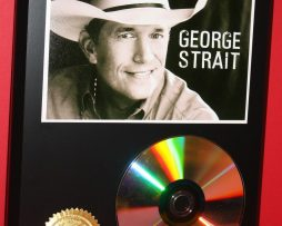GEORGE-STRAIT-24kt-GOLD-CDDISC-COLLECTIBLE-RARE-AWARD-QUALITY-PLAQUE-GIFT-170854937239