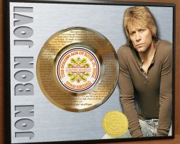JON-BON-JOVI-LASER-ETCHED-W-LYRICS-TO-LIVIN-ON-A-PRAYER-POSTER-ART-GOLD-RECORD-171387610179