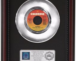 JOURNEY-SEPARATE-WAYS-PLATINUM-FRAMED-RECORD-CHERRYWOOD-DISPLAY-K1-172204446399