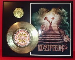 LED-ZEPPELIN-GOLD-45-RECORD-LIMITED-EDITION-LASER-ETCHED-WSONG-LYRICS-ROCK-GIFT-170831036429