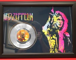 LED-ZEPPELIN-LARGE-FRAMED-PLATINUM-45-RECORD-DISPLAY-FREE-US-SHIPPING-181042152539