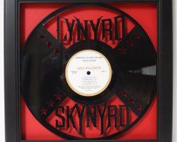 Lynaryd-Skynaryd-Framed-Laser-Cut-Black-Vinyl-Record-in-Shadowbox-Wallart-172386195669