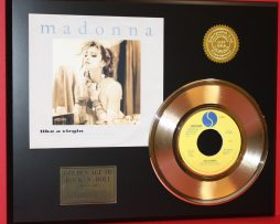 MADONNA-GOLD-45-RECORD-LIKE-A-VIRGIN-RARE-LTD-EDITION-ONLY-500-MADE-180835371469