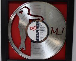 Michael-Jackson-Bad-Framed-Laser-Cut-Platinum-Vinyl-Record-in-Shadowbox-Wallart-182337057979