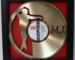 Michael-Jackson-Framed-Laser-Cut-Gold-Plated-Vinyl-Record-Shadowbox-Wallart-172388518509