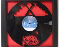 Pink-Floyd-The-Wall-Framed-Laser-Cut-Black-Vinyl-Record-in-Shadowbox-Wallart-172386200449