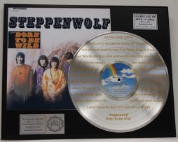 STEPPENWOLF-PLATINUM-LP-RECORD-DISPLAY-ETCHED-W-LYRICS-TO-BORN-TO-BE-WILD-181465588629
