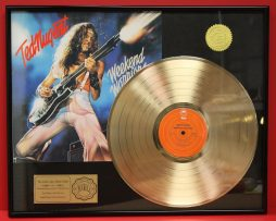 TED-NUGENT-CUSTOM-FRAMED-PREMIUM-GOLD-AWARD-QUALITY-RECORD-DISPLAY-170923407439