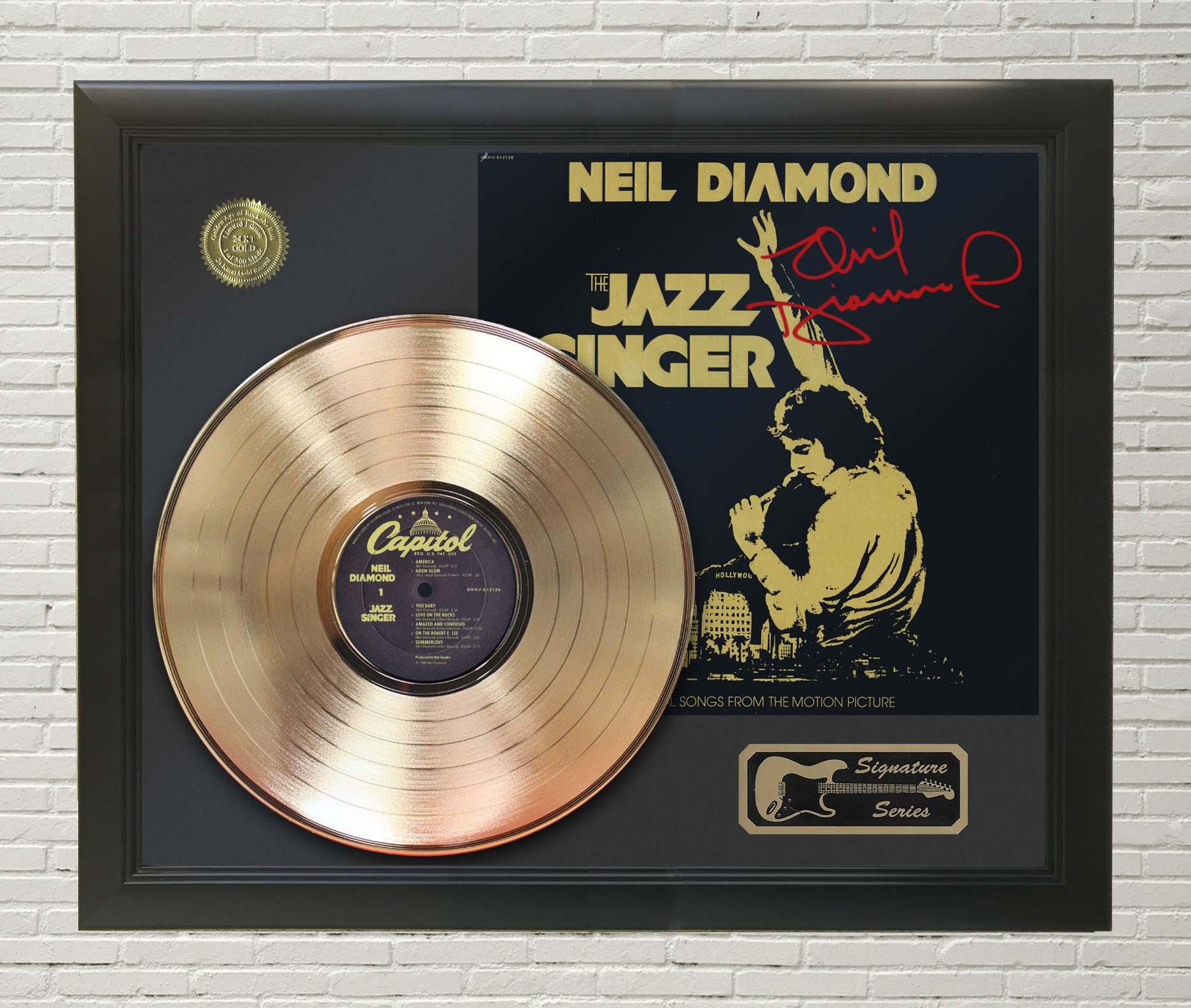 NEIL DIAMOND signed gold disc