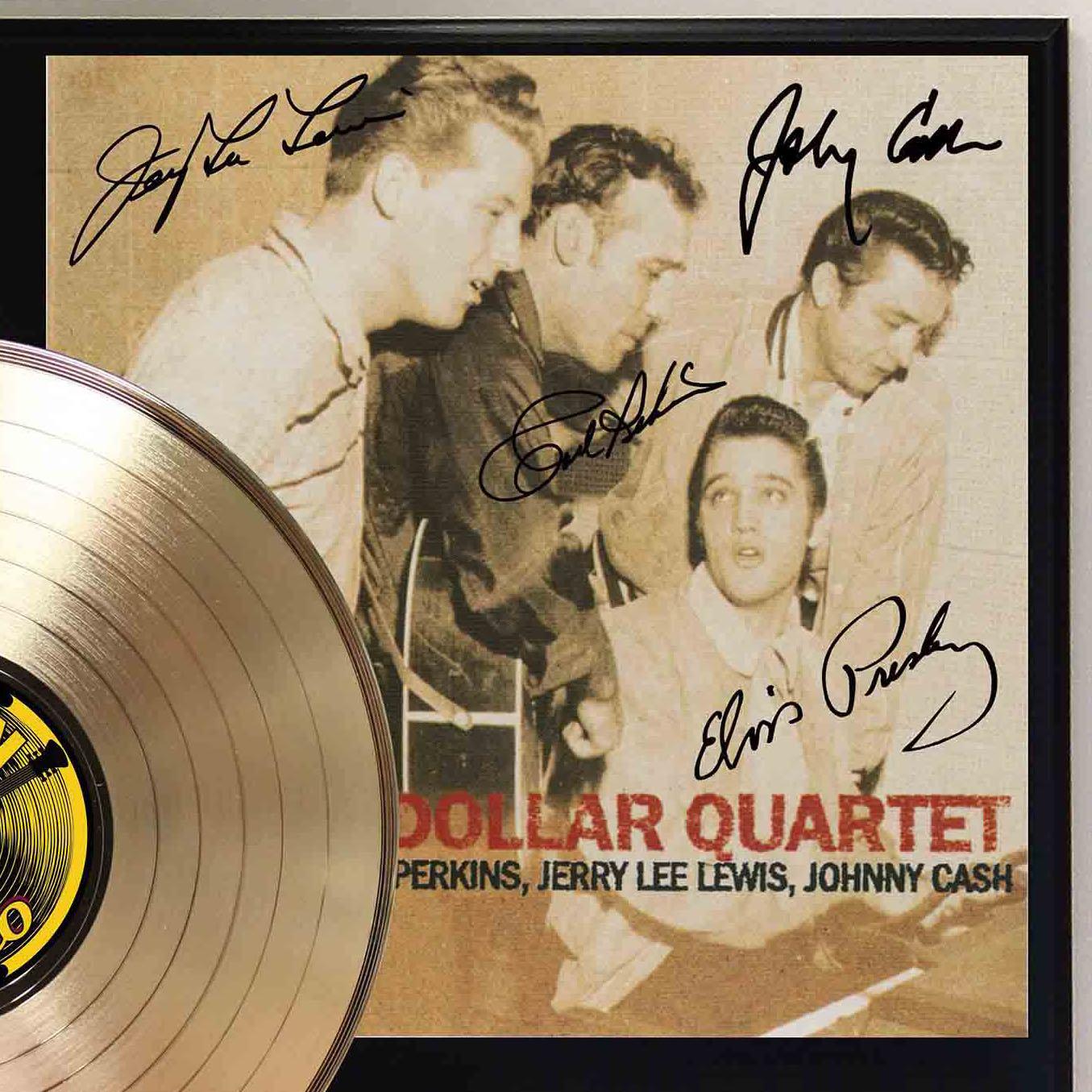 Million Dollar Quartet Gold LP Record