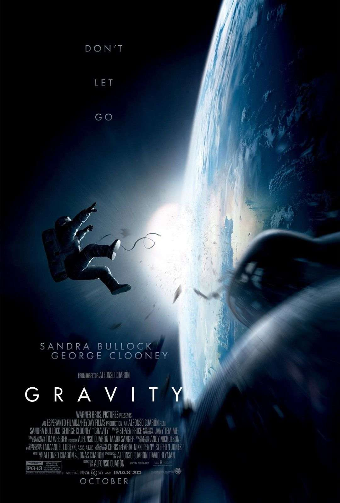 gravity with sandra bullock george clooney ltd edition movie reel