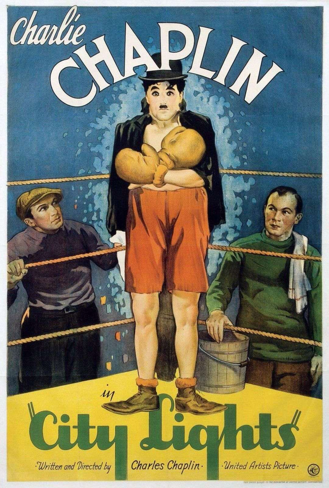 City Lights Charlie Chaplin Movie Poster Limited Edition ...