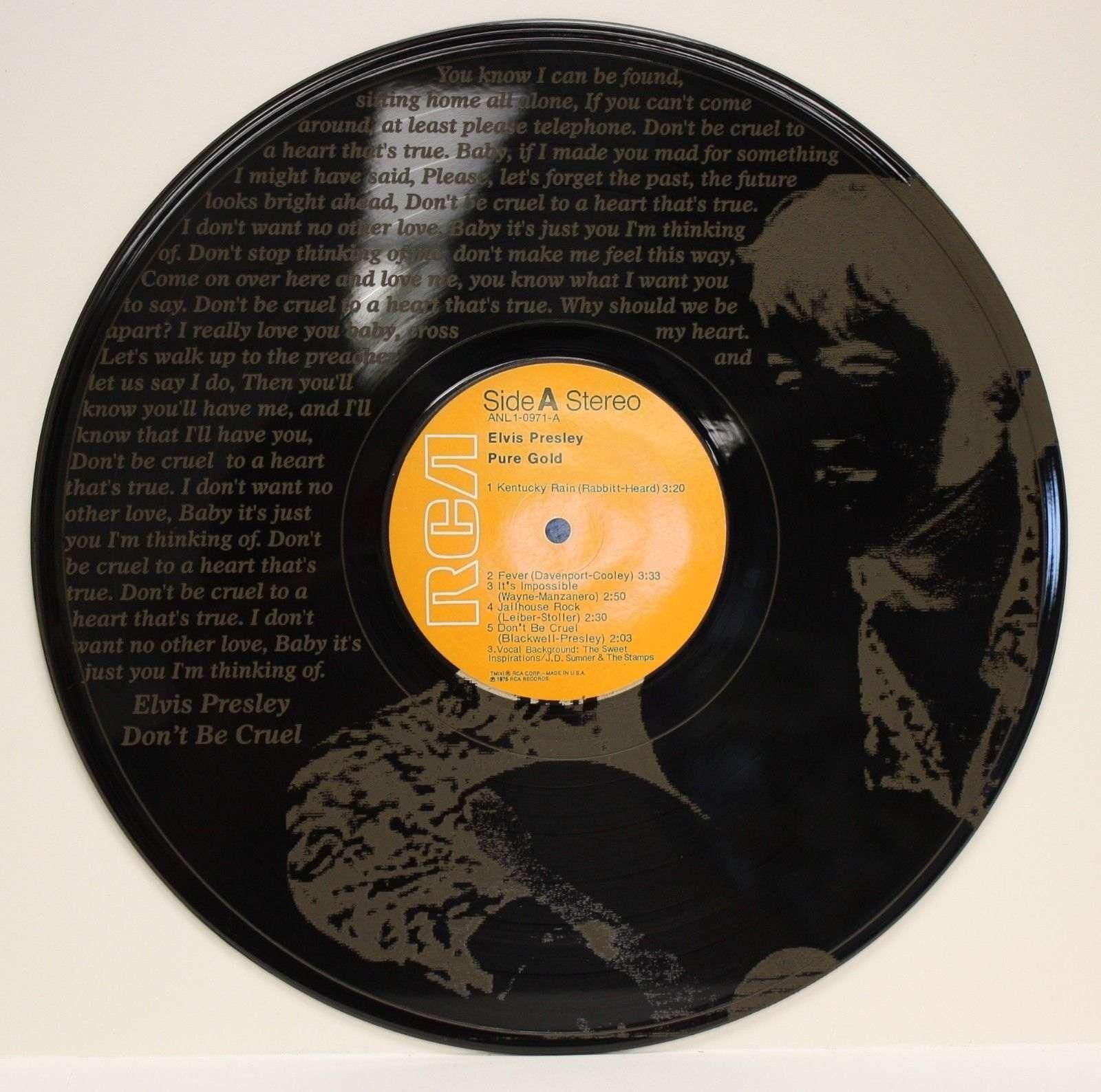 Elvis Presley Vinyl Lp Etched W Dont Be Cruel Lyrics Ltd