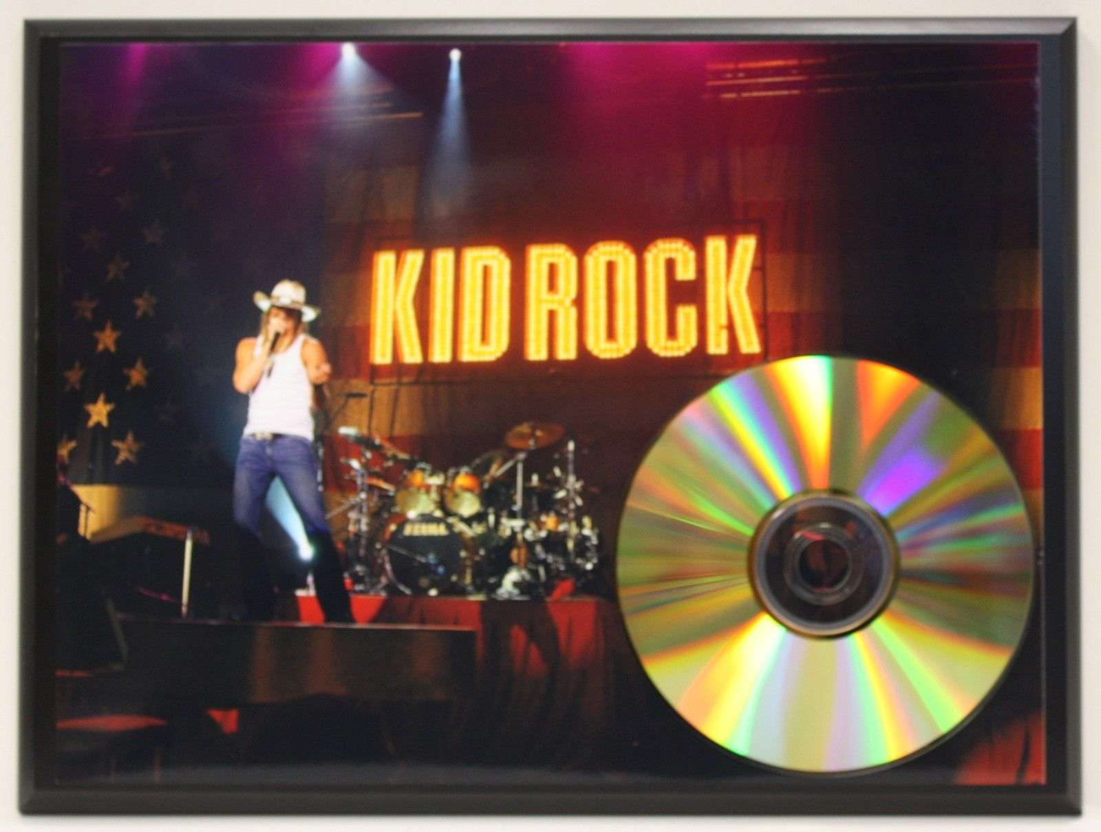 kid rock 24 kt ltd edition gold cd plaque free u s priority shipping gold record awards album. Black Bedroom Furniture Sets. Home Design Ideas