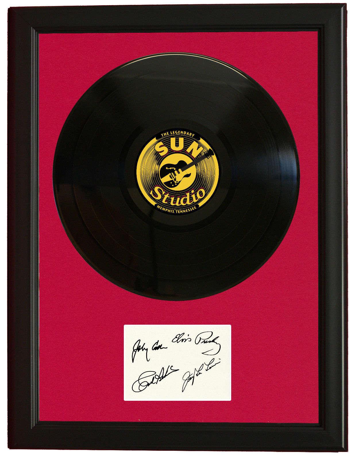 Million Dollar Quartet Wood Framed Vinyl Ltd Lp Signature