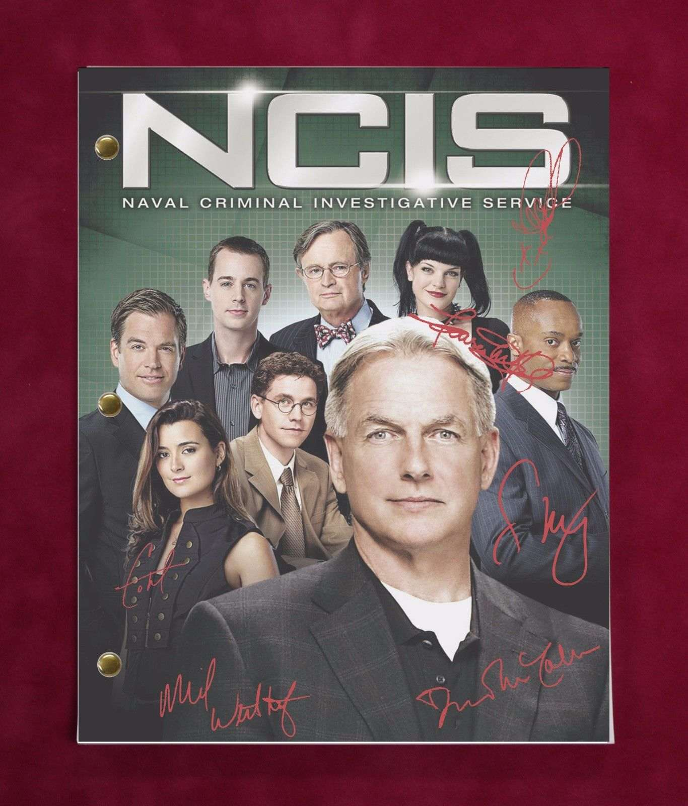 Ncis Kill Ari Tv Script W/ Reproduction Signatures Harmon, Weatherly C3