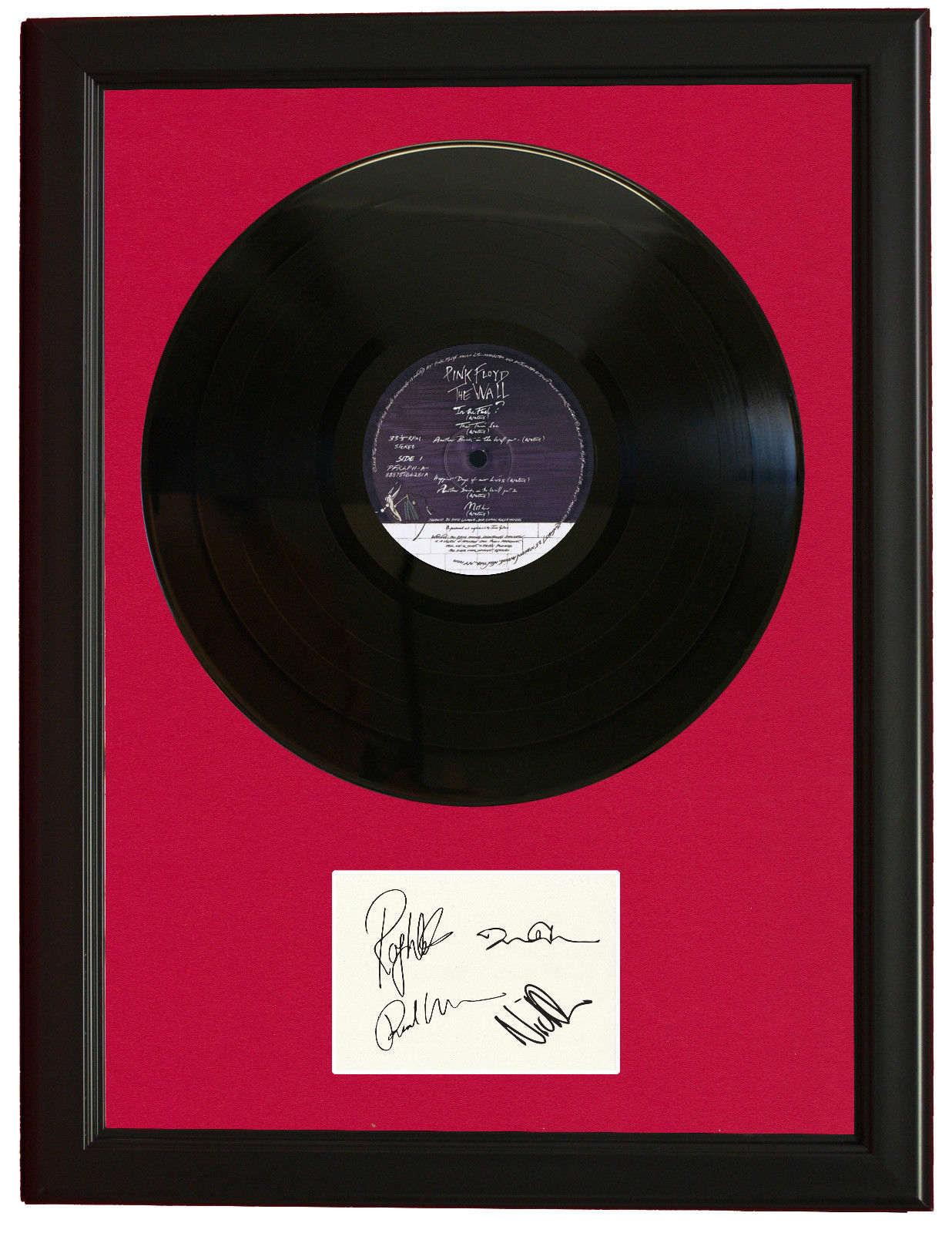 Pink Floyd Black Wood Framed Vinyl Ltd Lp Signature Display C3